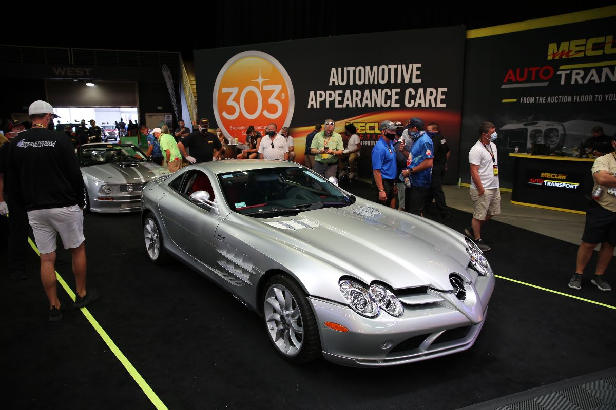 200903 2006 Mercedes-Benz SLR McLaren Supercharged 5.4L:617 HP, Red Interior (Lot S77.1) sold at $203,500