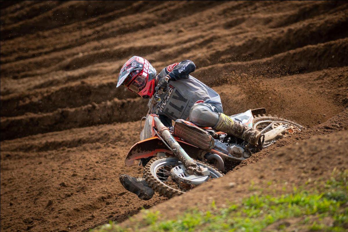 An impressive ride by Blake Baggett saw him take the Moto 2 win