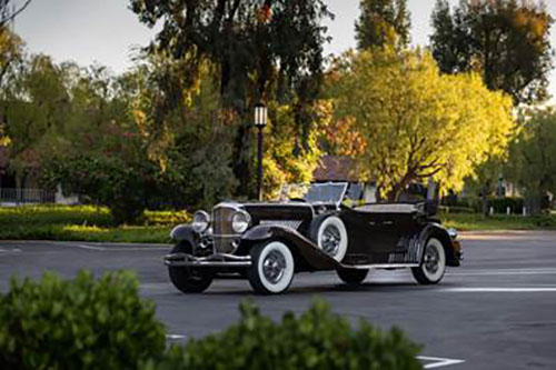 1936 Duesenberg Model J Tourster (Credit – Karissa Hosek © 2020 Courtesy of RM Auctions)