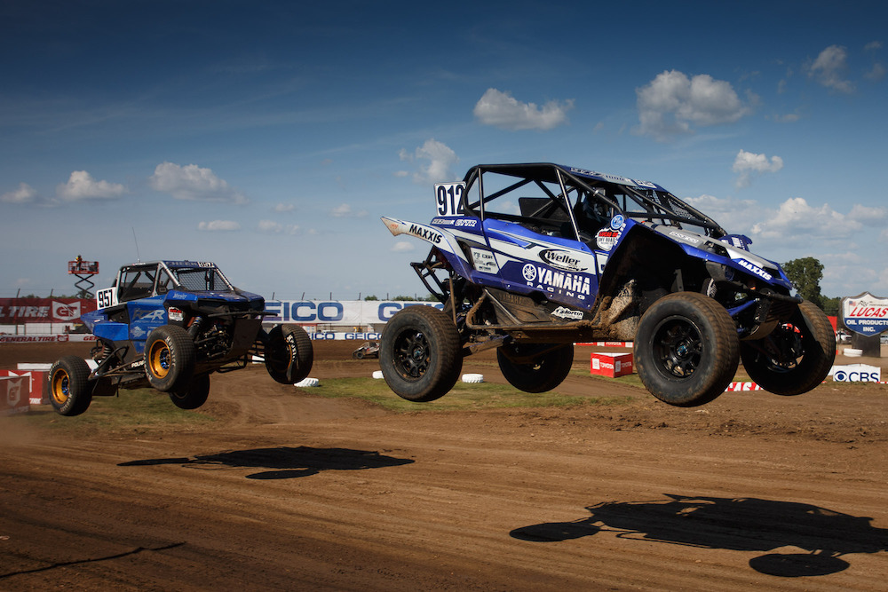 200914 The Production 1000 UTV rivalry between Brock Heger (#912) and Myles Cheek (#957)