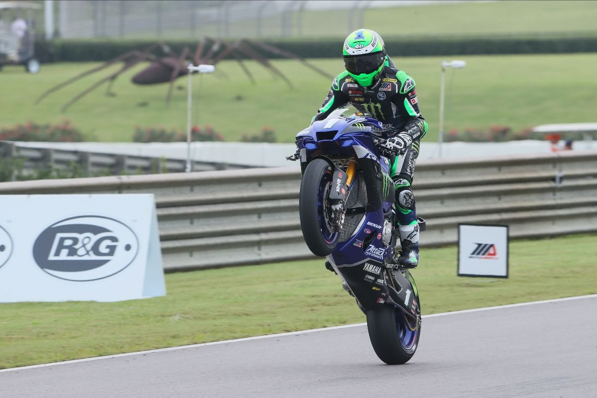 200920 When you win your 50th career AMA Superbike race, you wheelie