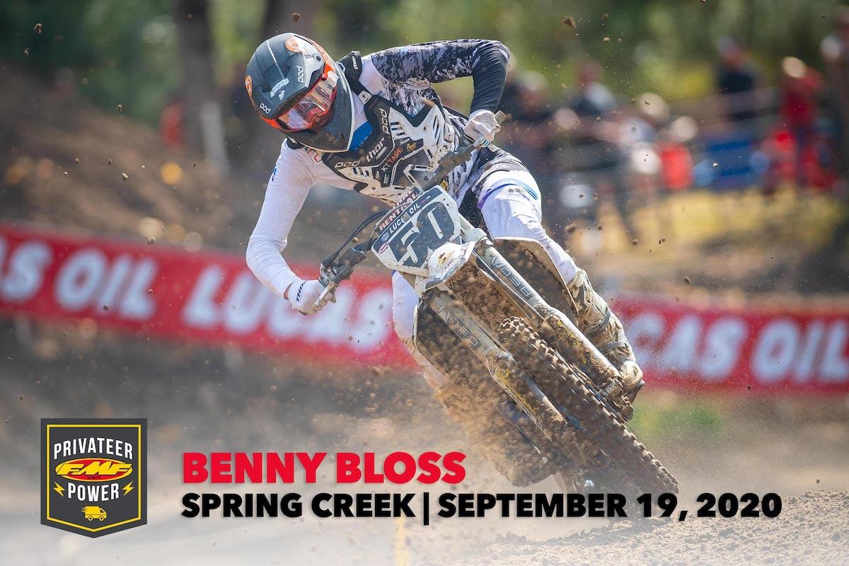 FMF Privateer Power Award - Benny Bloss