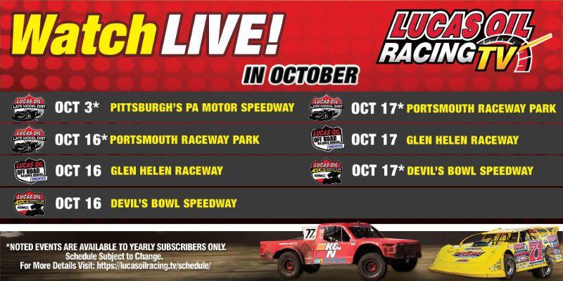 201002 LORTV LIVE Broadcast Schedule - October