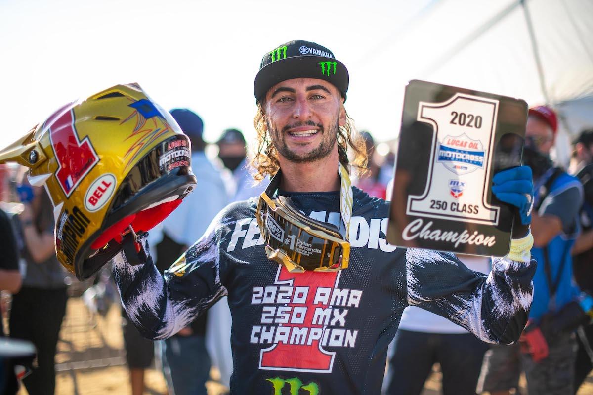 201011 Dylan Ferrandis is the 2020 Lucas Oil Pro Motocross 250 Class Champion