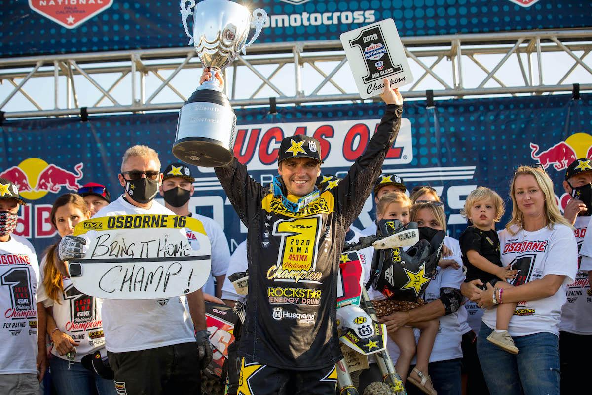 201011 Zach Osborne is the 2020 Lucas Oil Pro Motocross 450 Class Champion