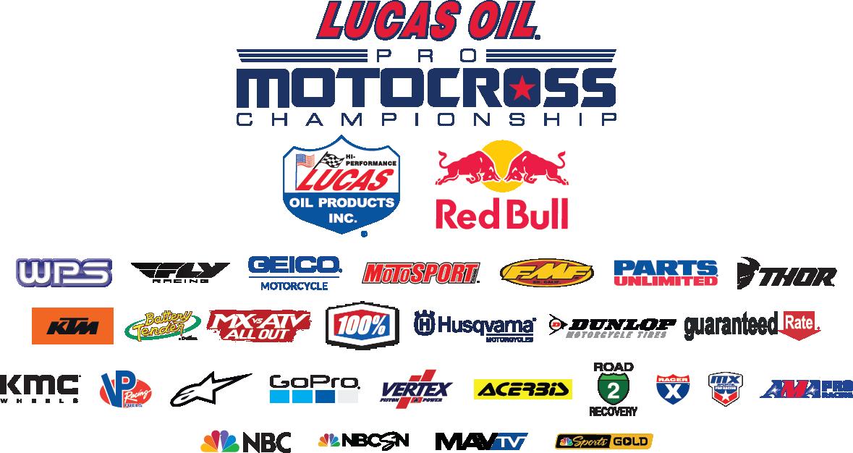 2020 Lucas Oil Pro Motocross Championship sponsor logos