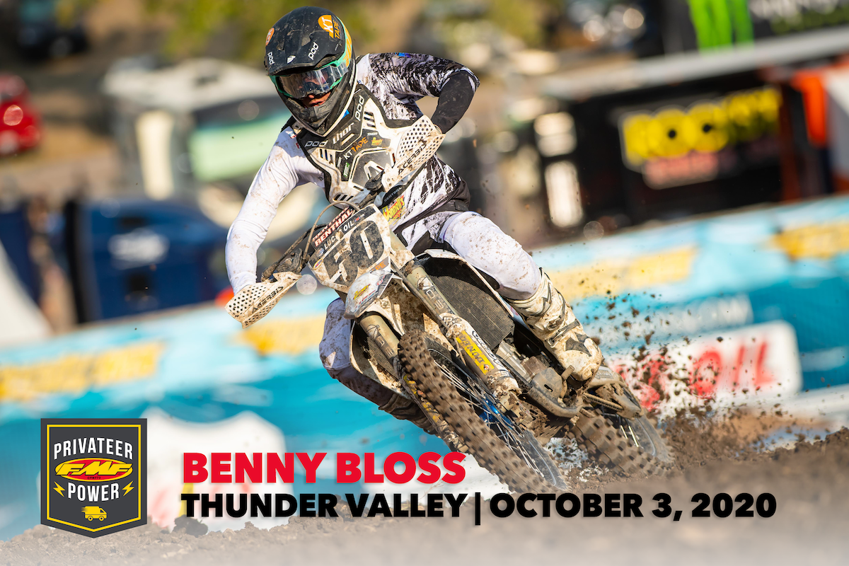 FMF Privateer Power Award - #50 Benny Bloss