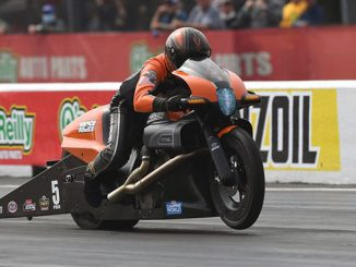 Krawiec Launches Harley to Pro Stock Motorcycle Win in Houston