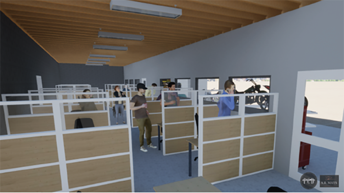 Powerhouse Brands - New office space designed for open collaboration