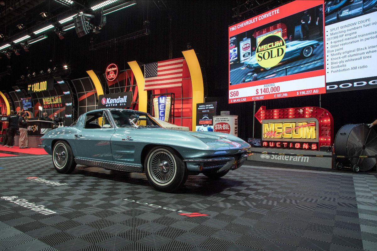 1963 Chevrolet Corvette Split Window Coupe 327/360 HP, 4-Speed (Lot S60) sold at $151,250