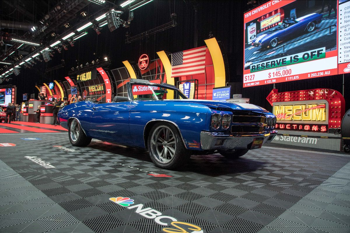 1970 Chevrolet Chevelle Convertible LS3/525 HP, Automatic (Lot S127) sold at $154,000