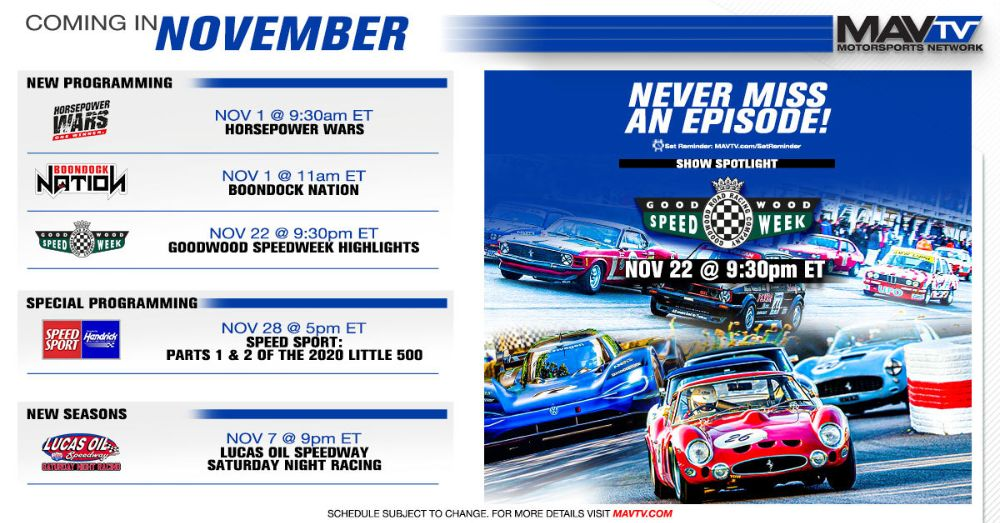 MAVTV November Broadcast Schedule