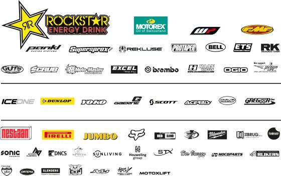Rockstar Energy Husqvarna Factory Racing sponsor logos