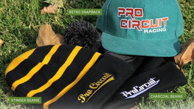 201212 Pro Circuit Charcoal Beanie, Stinger Beanie and Retro Snapback (678)