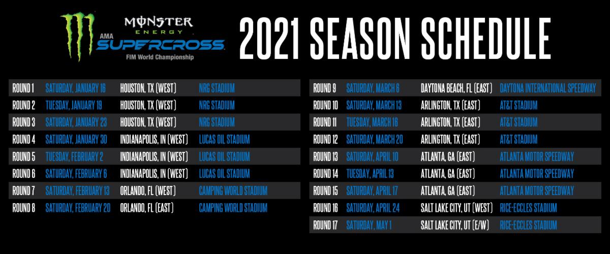 201215 Monster Energy Supercross 2021 Complete Schedule Revealed (1)
