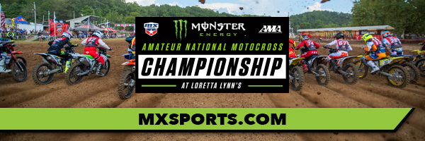 40th annual Monster Energy AMA Amateur National Motocross Championship banner