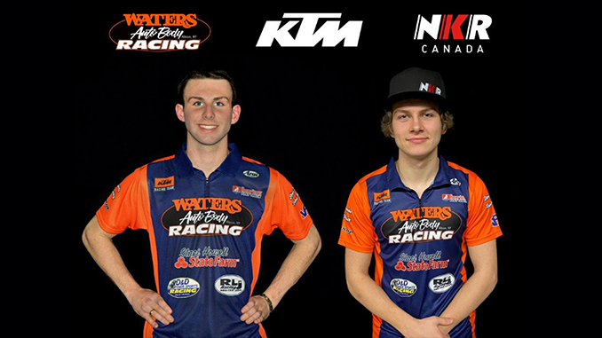 210123 Waters Auto Body KTM NKR Canada Rolling Out Two-Rider AFT Singles Team (678)