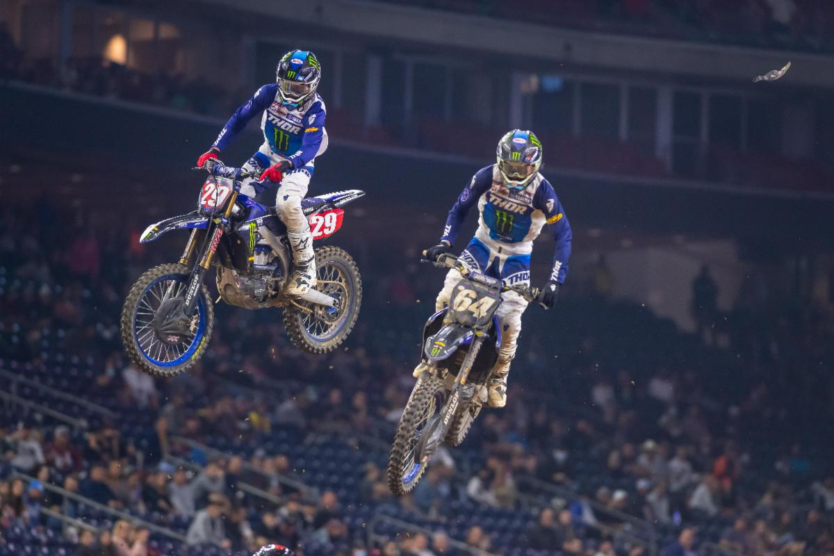 Colt Nichols battled his Yamaha teammate and earned his second career win in the 250SX Class