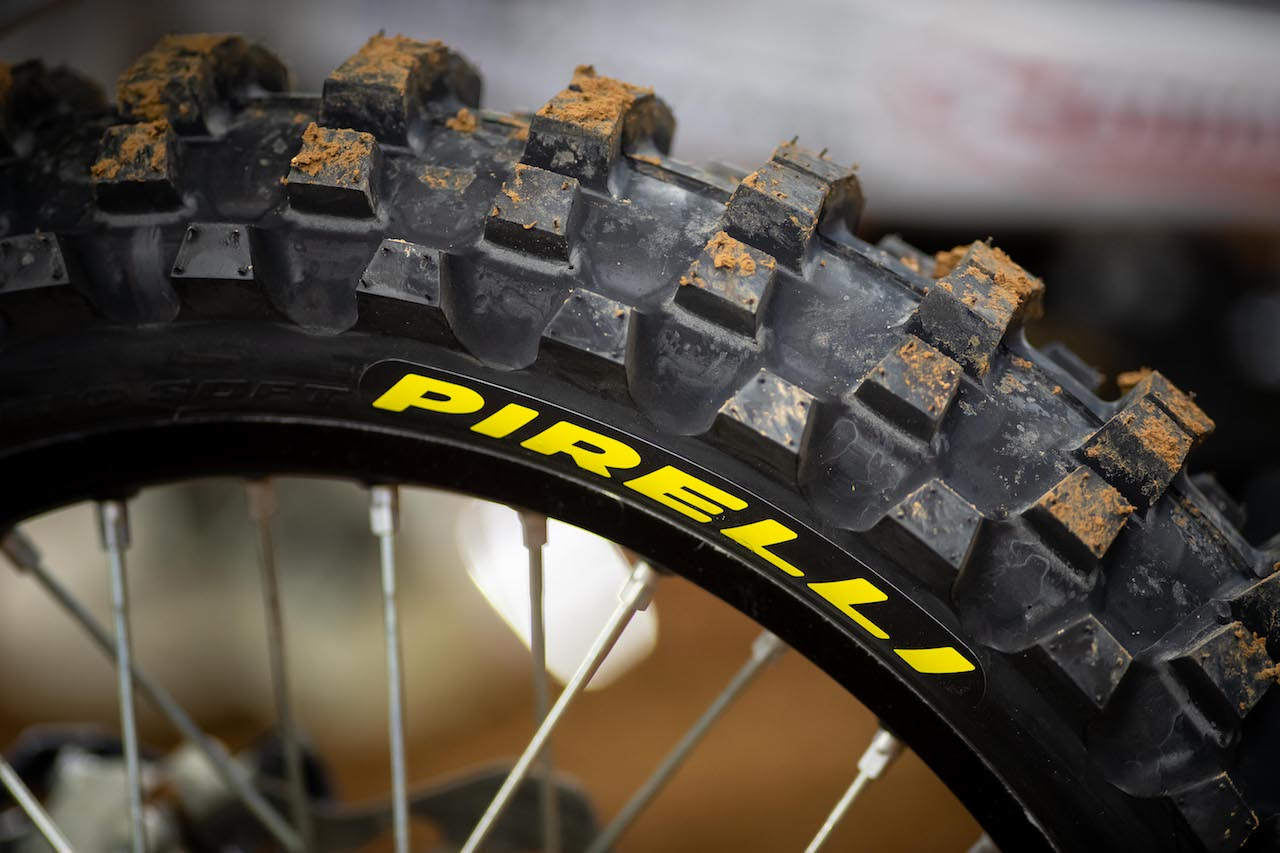 Pirelli's SCORPION™ MX32™ Mid Soft tires were the tire of choice for both front and rear