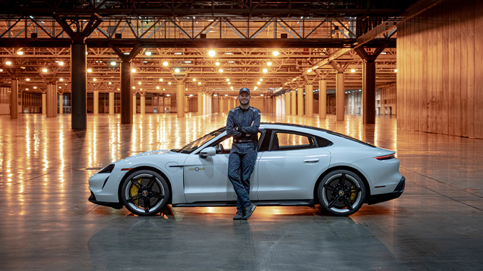 210211 Driver Leh Keen achieves Indoor Land Speed Record in Taycan Turbo S (678)