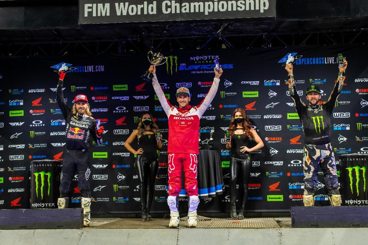 450SX Class podium - Indy 2