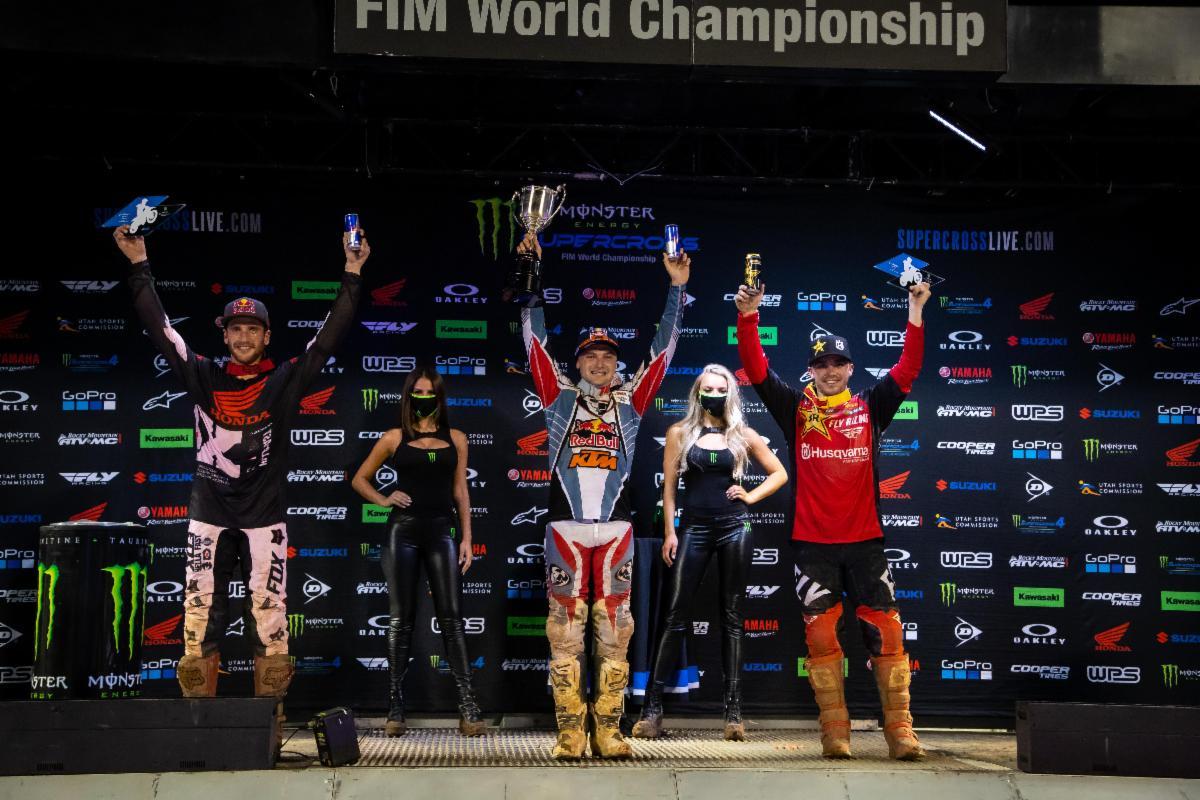 Orlando 1 450SX Class podium
