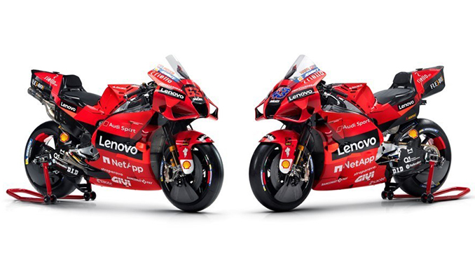 Ducati Desmosedici GP and a detail of the fairing on the left side of the bike (678.1)