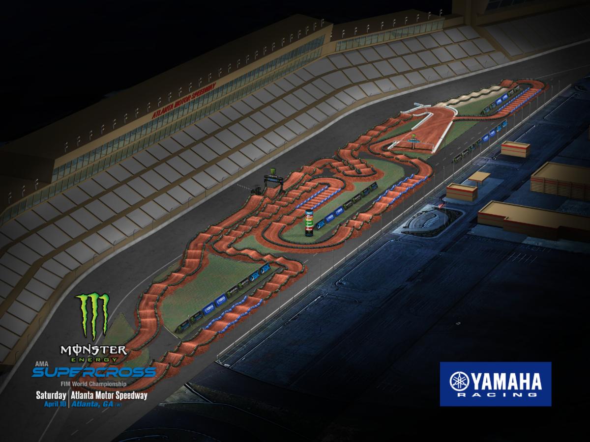 Round 13 - Atlanta Track map