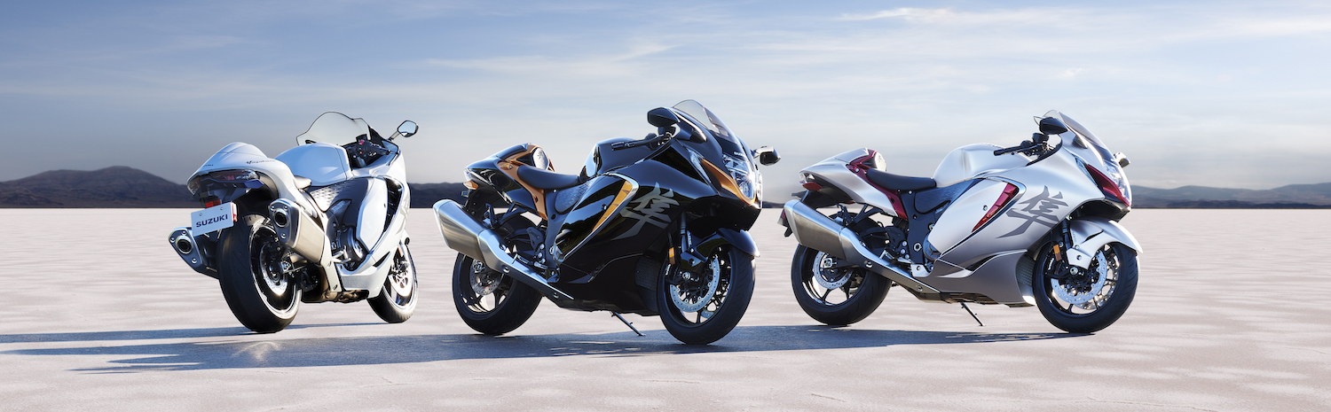 The 2022 Hayabusa is available in three stunning color combinations