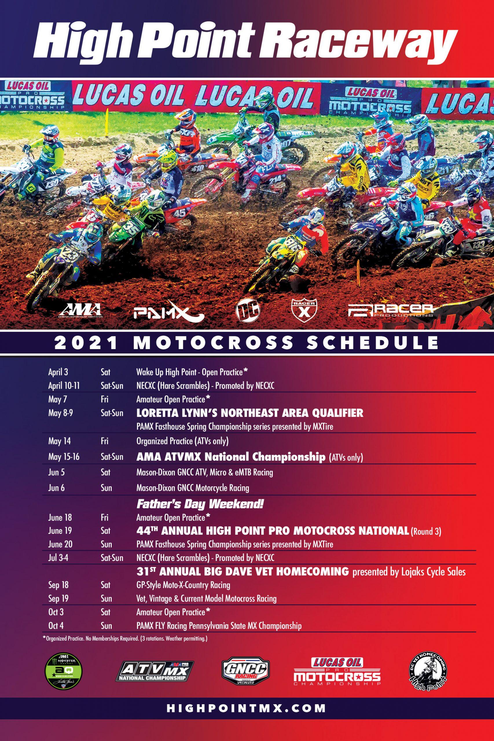 2021 High Point Raceway Schedule