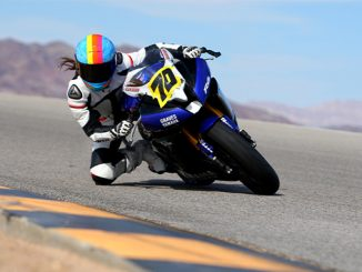 210309 Jen Dunstan putting in some hot laps on her Yamaha R6 at Chuckwalla Valley Raceway. Photo by CaliPhotography (678)