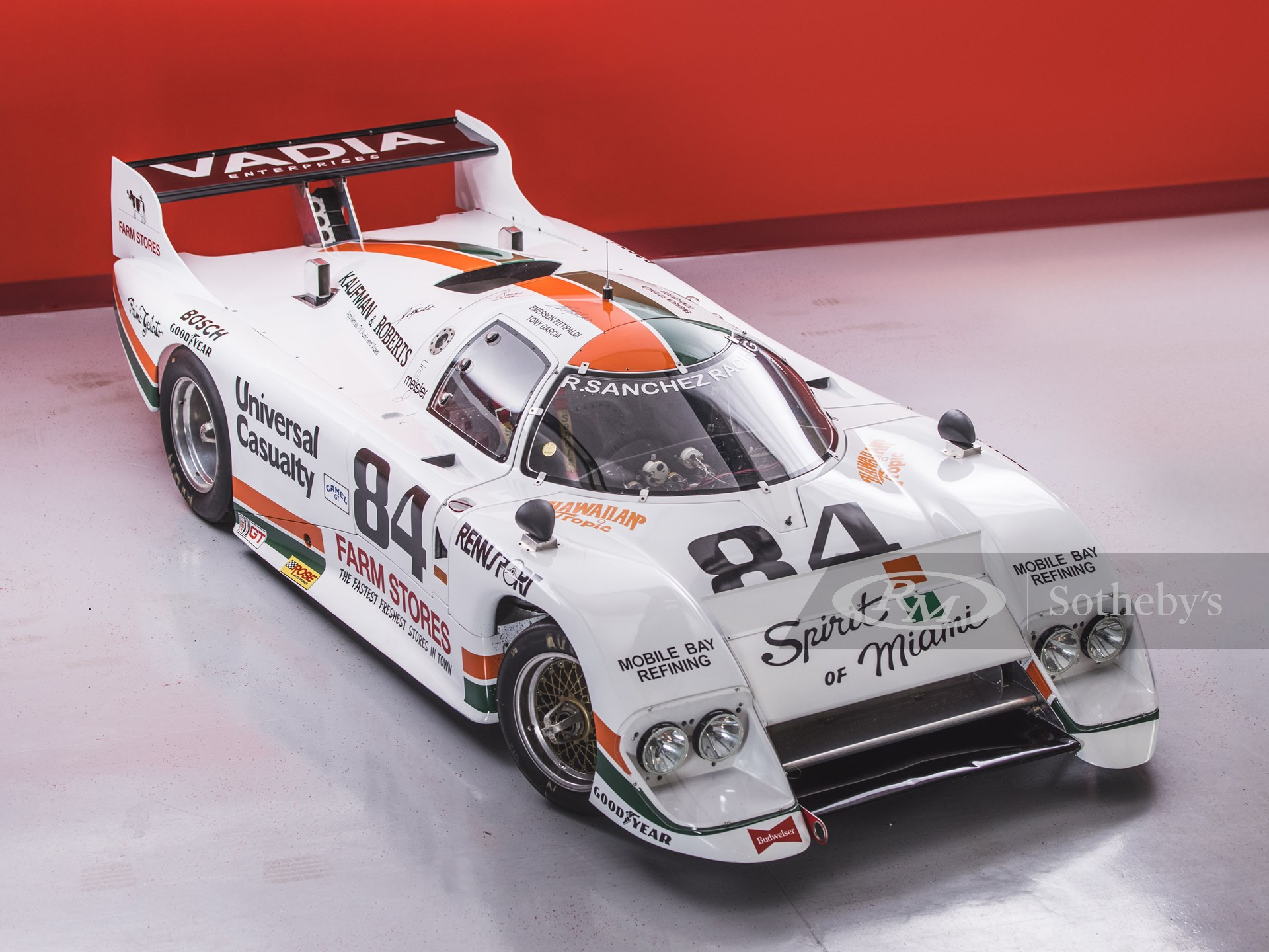 """210326 1983 March-Chevrolet 83G IMSA GTP """"Spirit of Miami"""" (Credit – Nathan Deremer ©2021 Courtesy of RM Sotheby's)"""