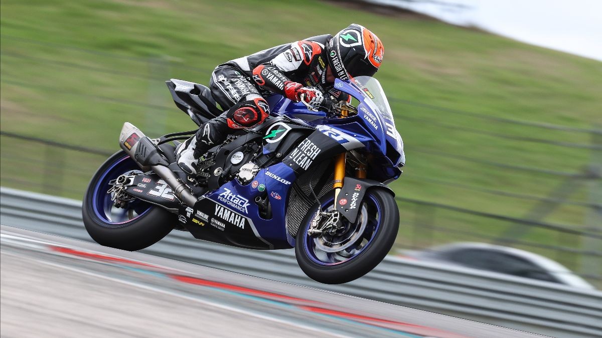 210331 Jake Gagne ended the test as the third fastest of the Superbike riders