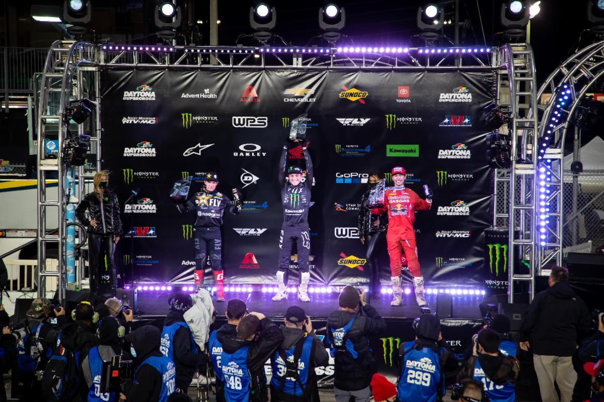 250SX Class podium - Daytona Supercross