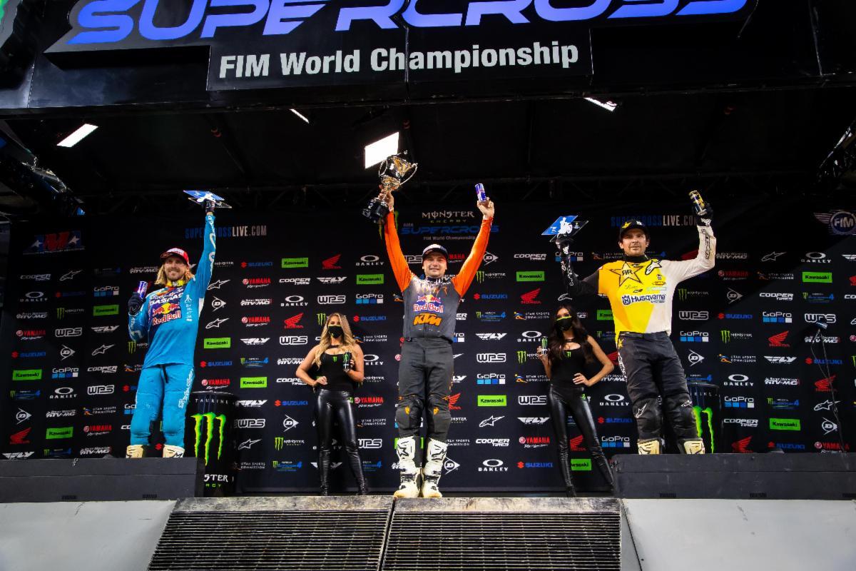 450SX Class podium - Arlington 1