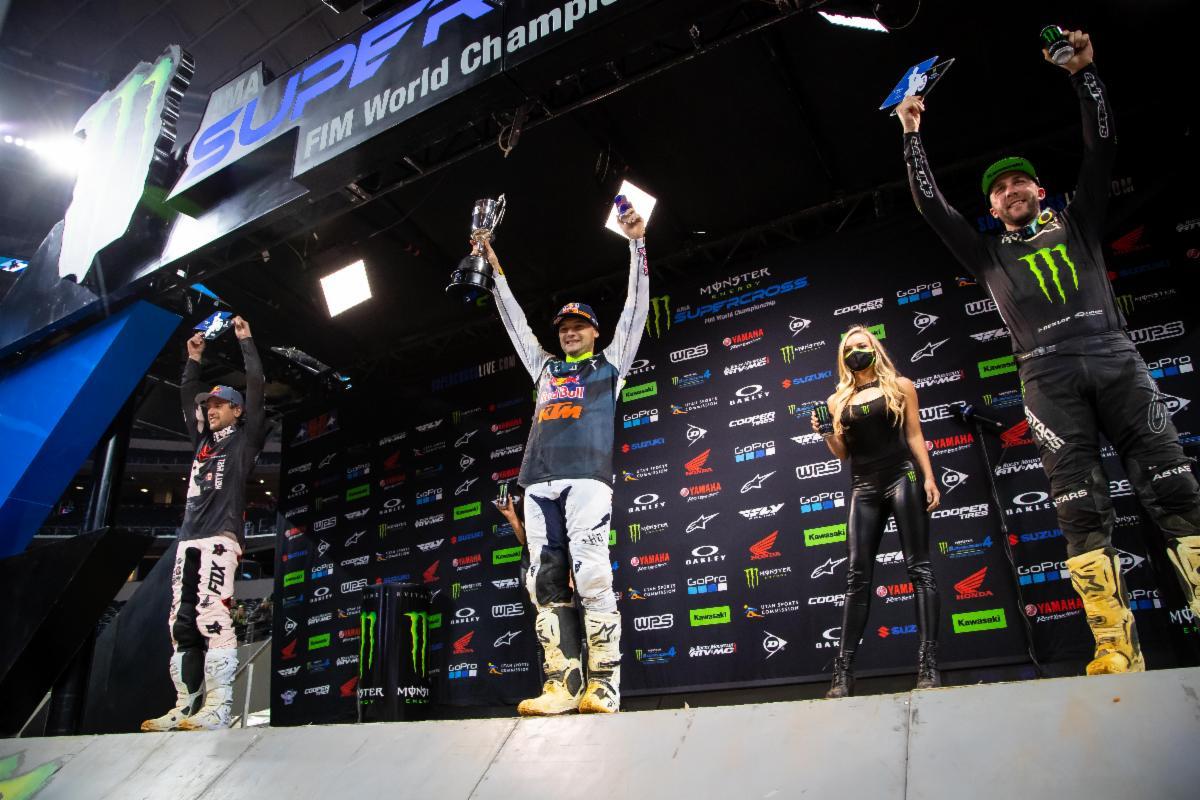 450SX Class podium - Arlington 3