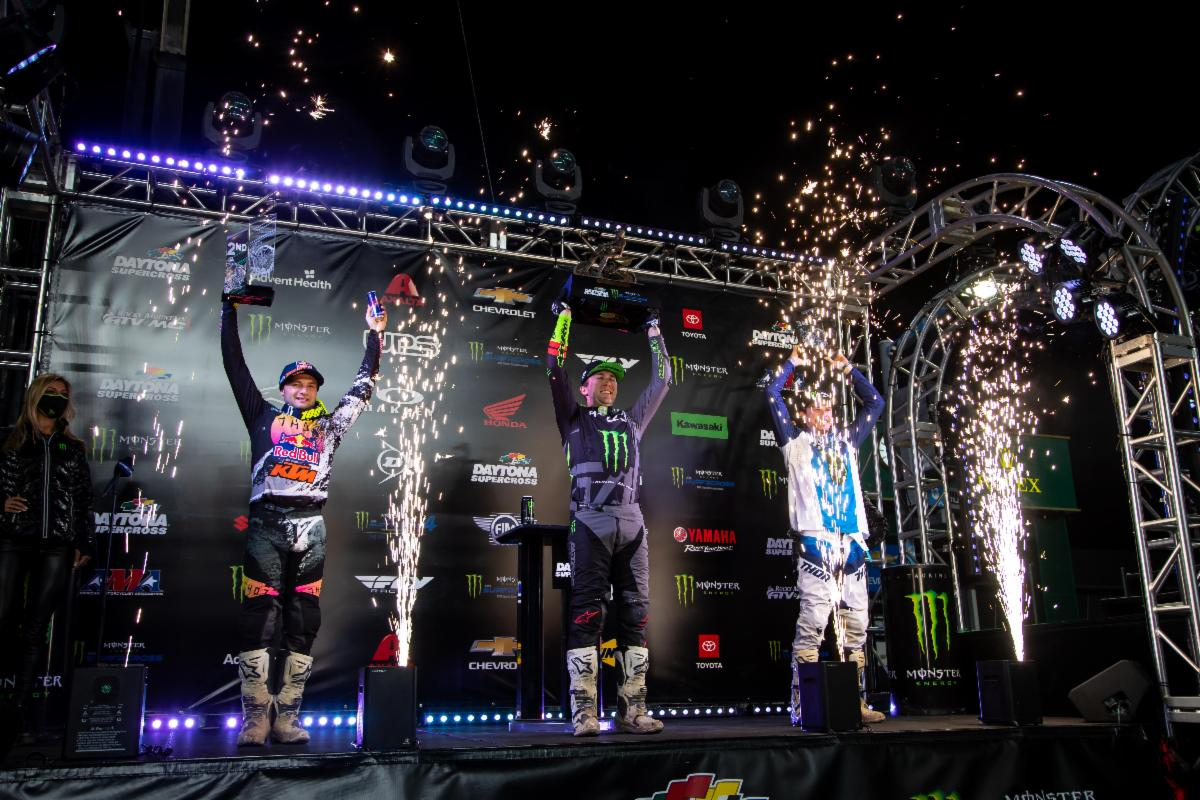 450SX Class podium - Daytona Supercross