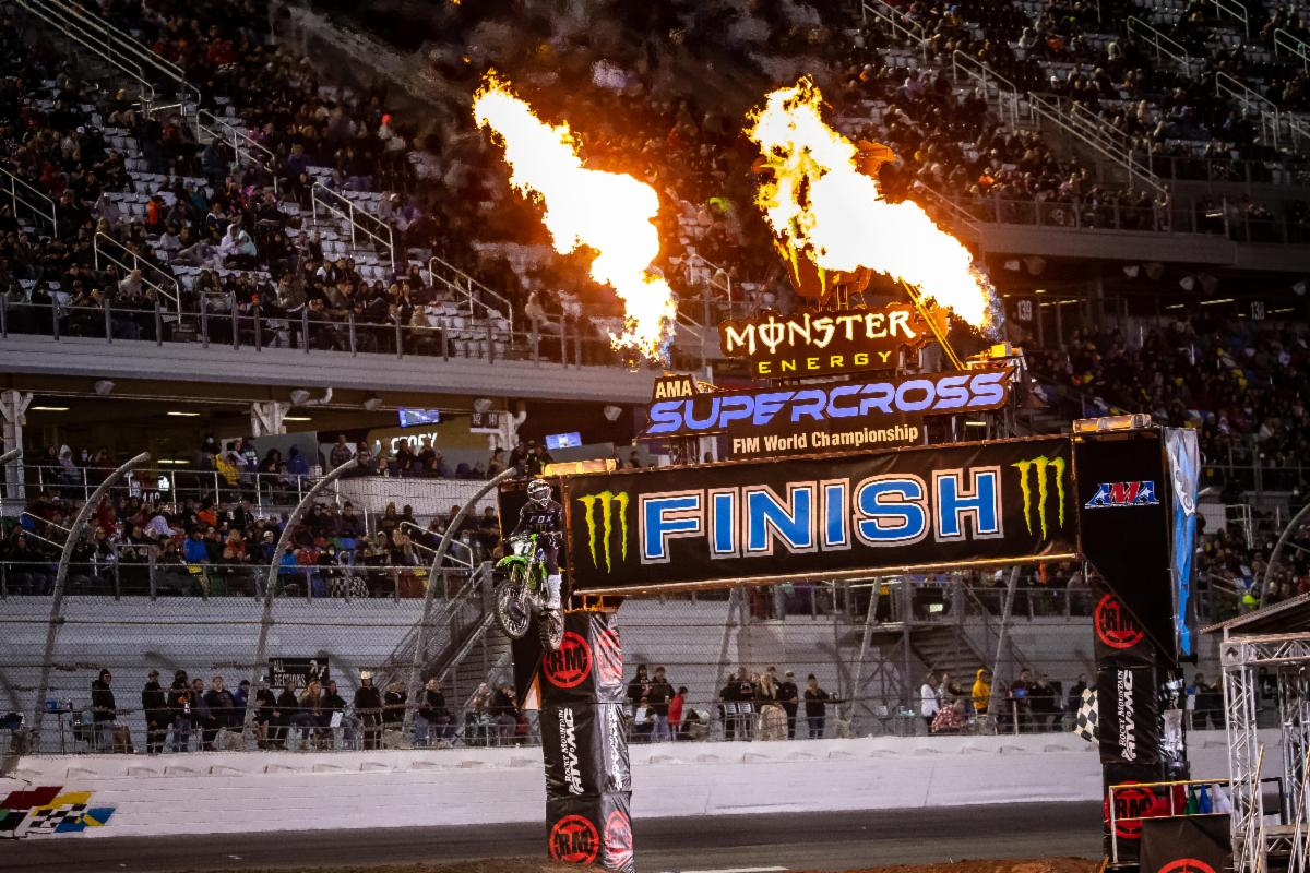 Cameron McAdoo picked a big race for his first Supercross win