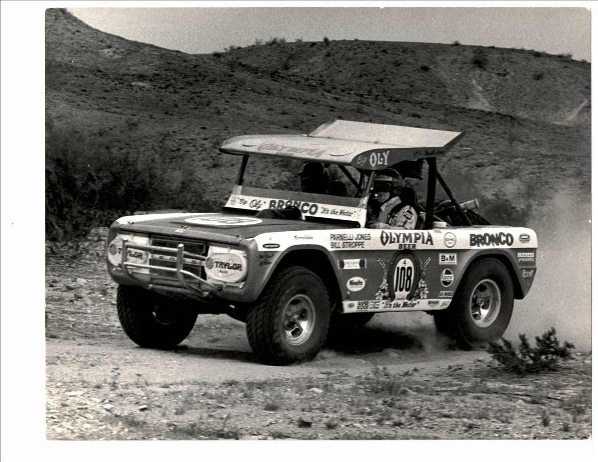 Parnelli Jones and Bill Stroppe Captured the 1973 Mint 400 in Big Oly