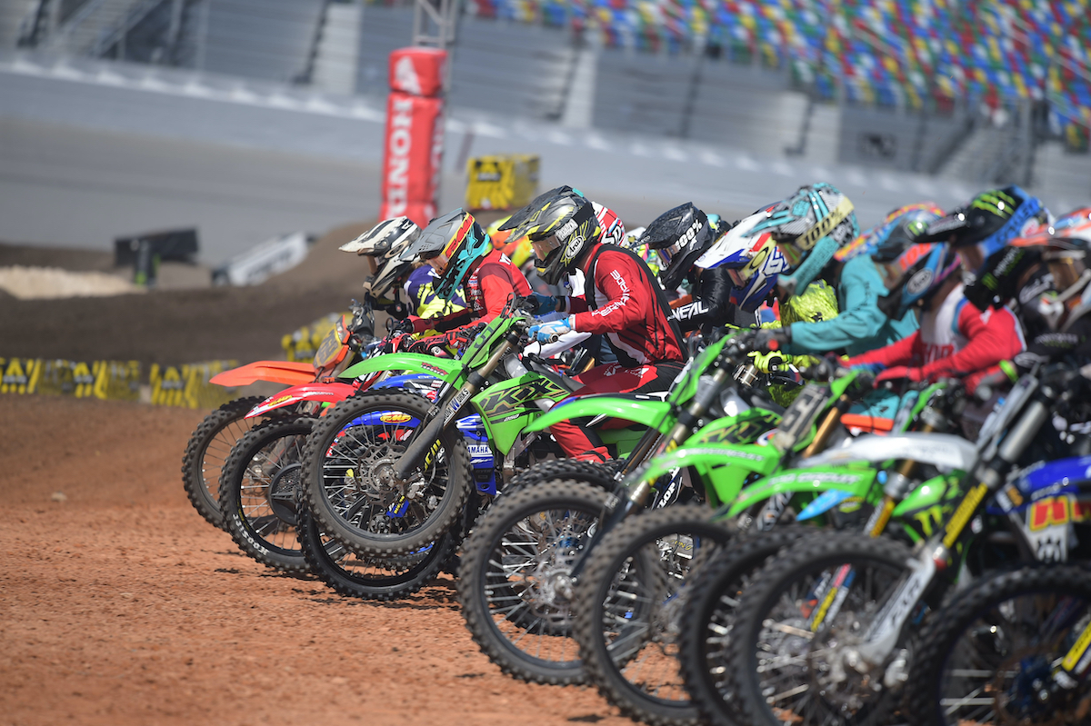 Supercross Futures class competed for points at the 2021 Ricky Carmichael Amateur Supercross