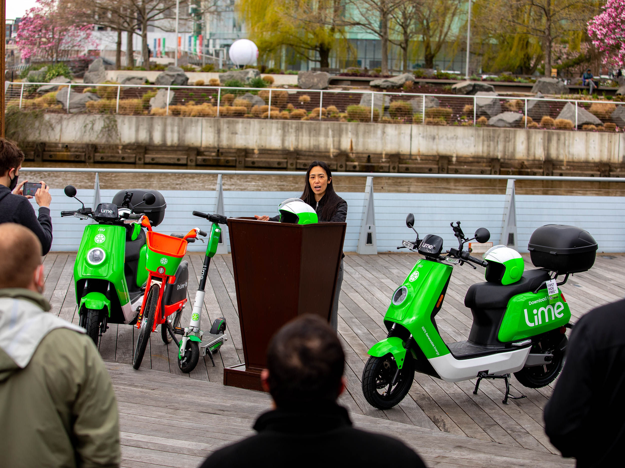 210401 Andria Yu of the Motorcycle Safety Foundation speaks at today's Lime announcement in Washington D.C.