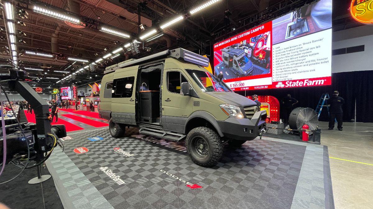 210414 2016 Mercedes-Benz Custom Camper Van The Bruce Banner of Van Life (Lot S75.1) sold at $181,500