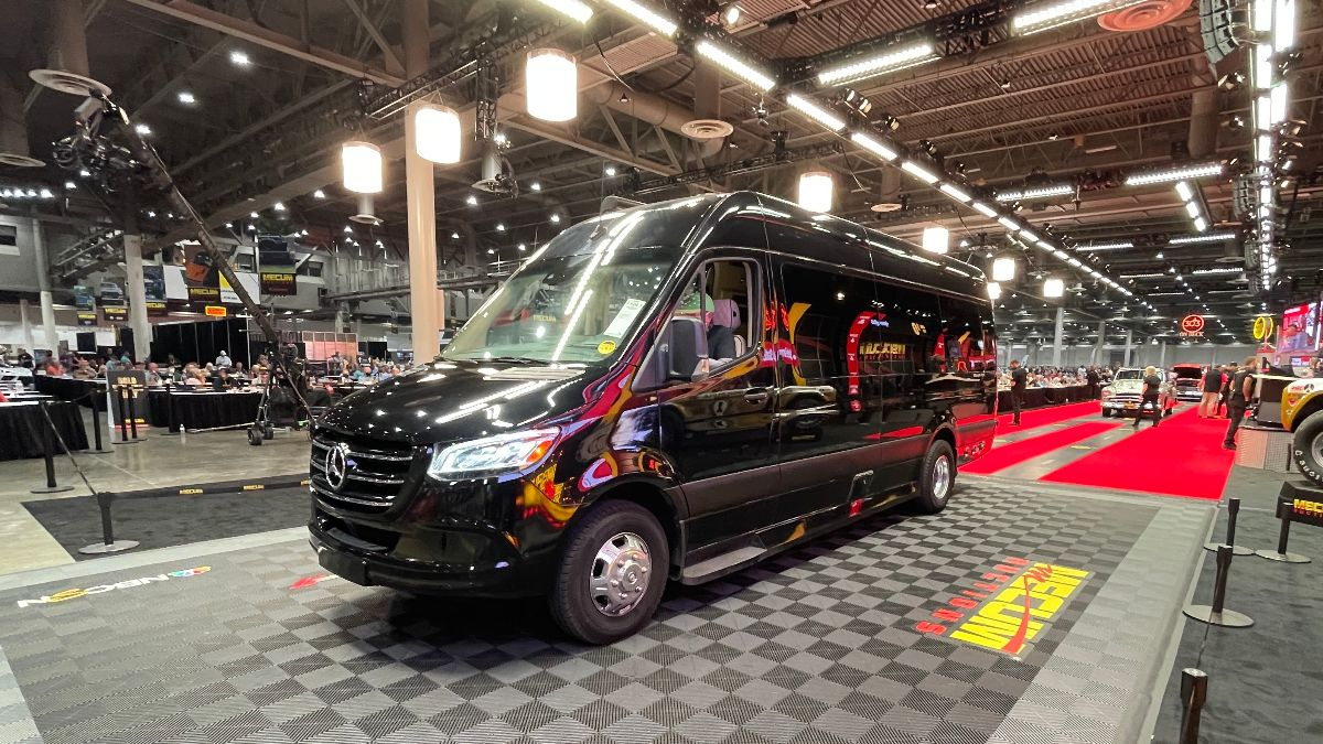 210414 2019 Mercedes-Benz Sprinter Ultimate Toys Custom Conversion (Lot F124.1) sold at $176,000