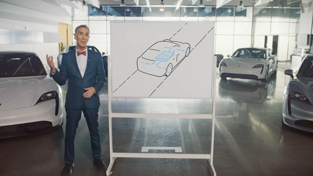 210421 Bill Nye The Science Guy explains the tech behind the Porsche Taycan in a new video series (1)