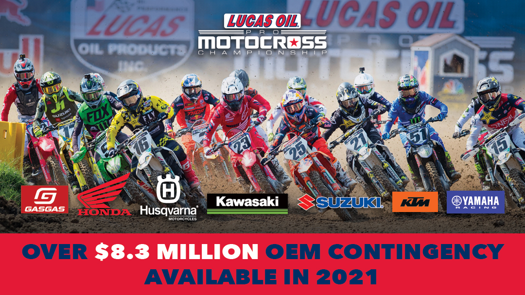 210428 Manufacturer Contingency Surpasses $8.3 Million of Support for 2021 Lucas Oil Pro Motocross Championship (1)