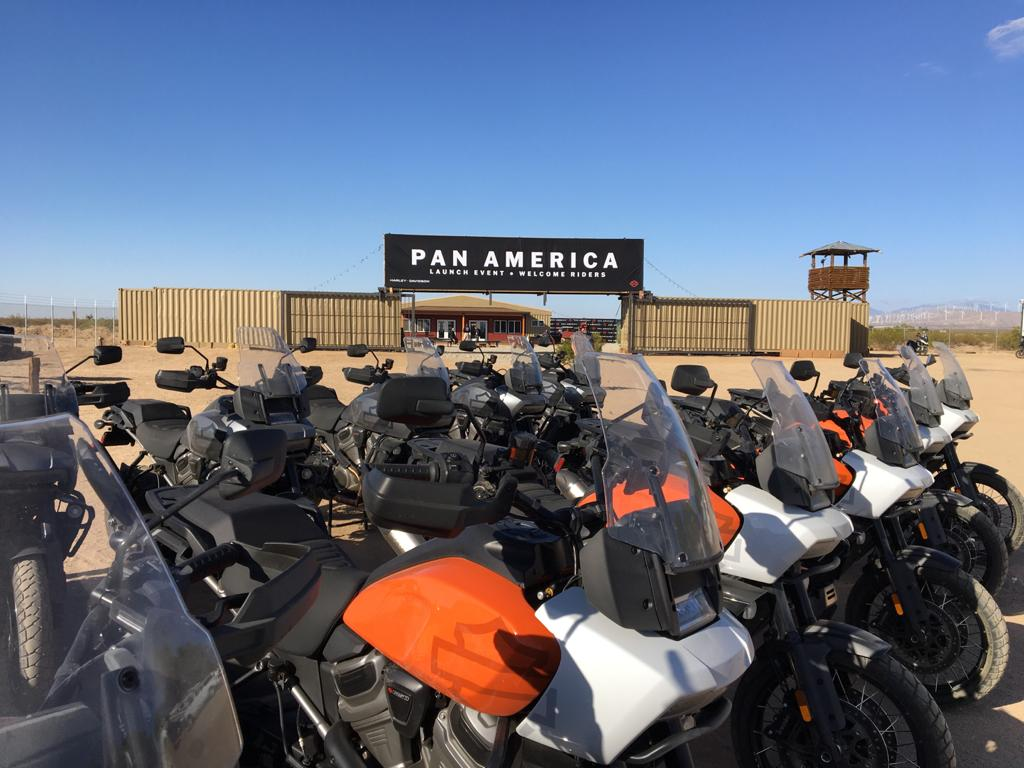 210429 The Zakar Event Center was chosen by Harley-Davidson as the site of the national Pan America press launch