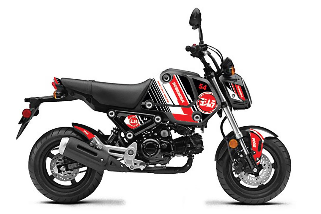 210430 2022 Grom Yoshimura Graphics Kit - Bullseye Black