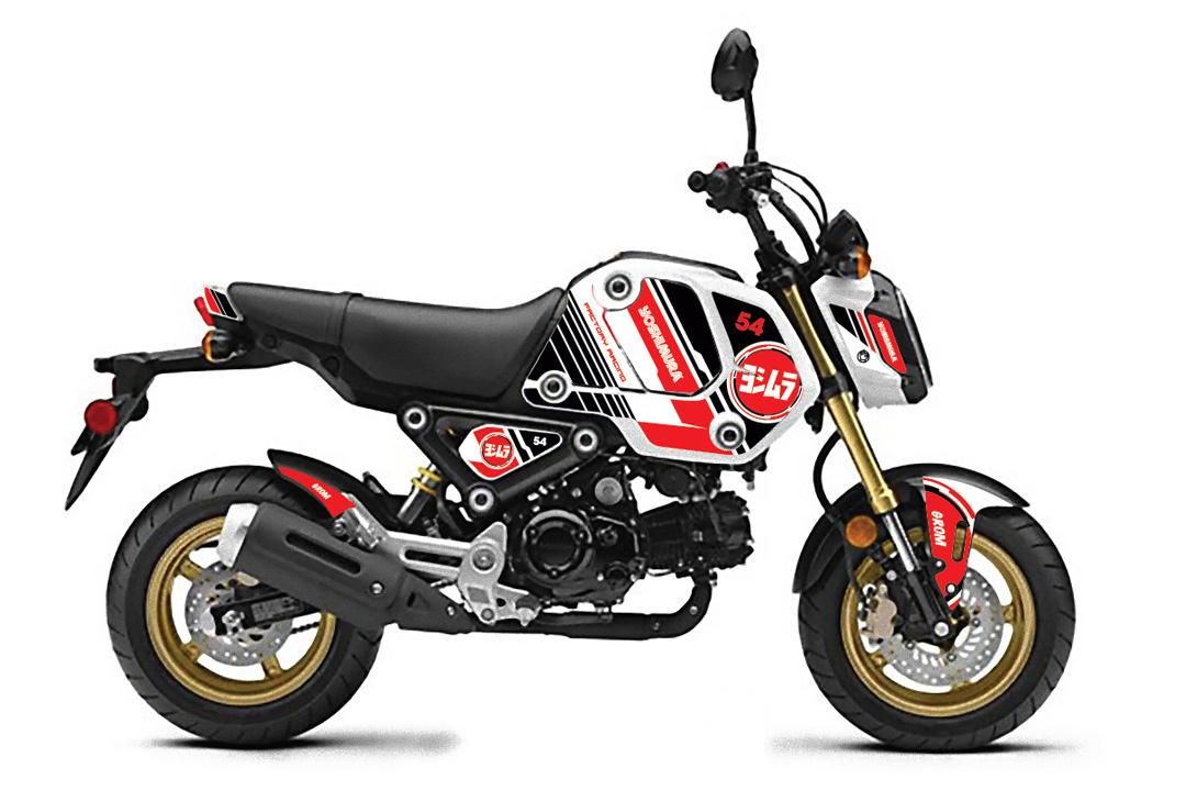 210430 2022 Grom Yoshimura Graphics Kit - Bullseye White