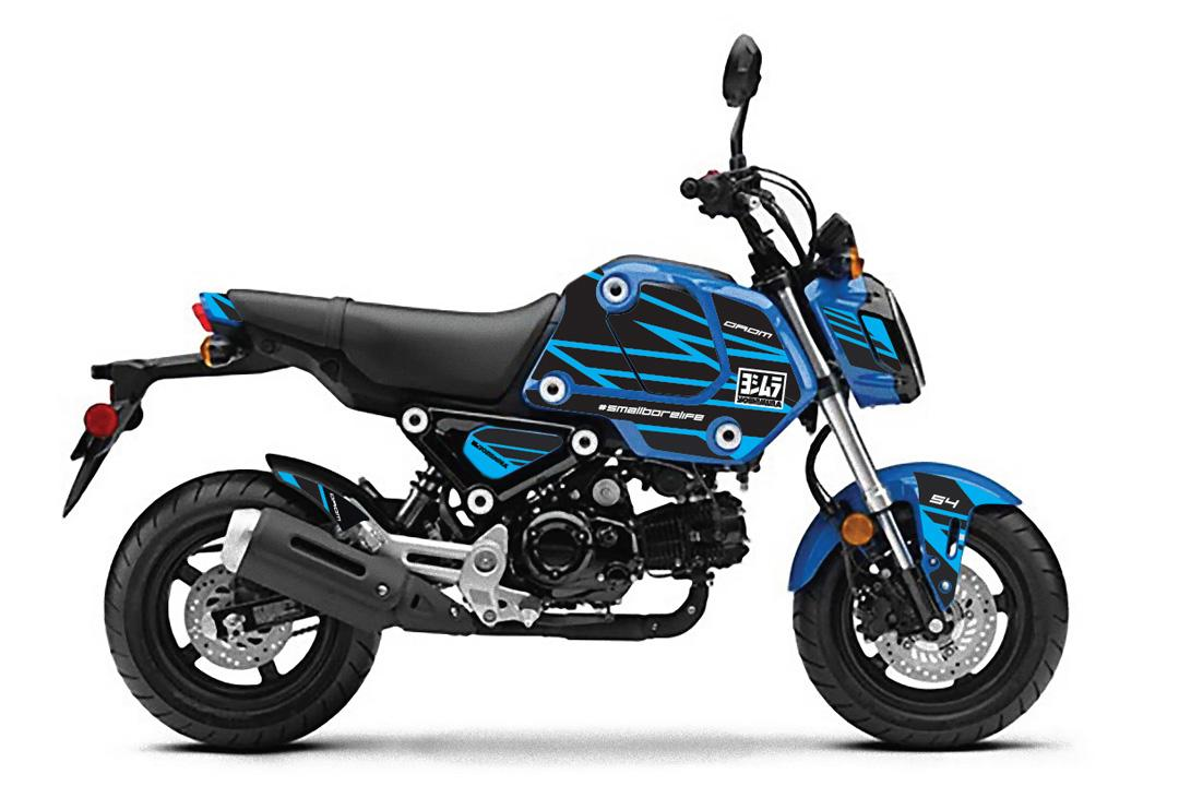 210430 2022 Grom Yoshimura Graphics Kit - blue
