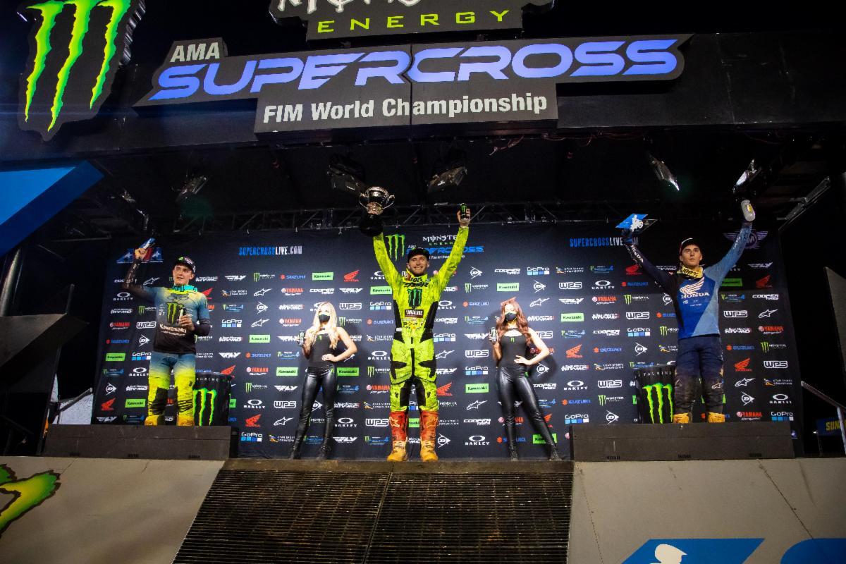 250SX Class podium - Atlanta 2